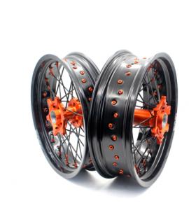 paire VMX SuperMotard KTM SX/F EXC/F 03-21 orange noir noir orange