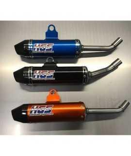 silencieux HGS alu/embout carbone 125 SX 19-21, 125 TC 19-21, 125 MC 2021 couleur