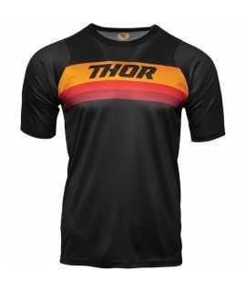 maillot THOR assist short sleeve black orange