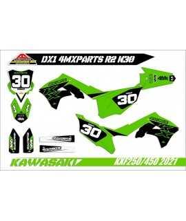 kit deco 4MX-PARTS 250 KXF 17-20 semi perso