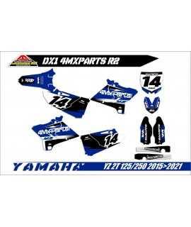 kit deco 4MX-PARTS 125/250 YZ 2015-2021 semi perso