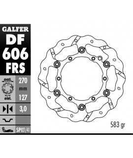 disque avant GALFER flottant SX/F 98-21 EXC/F 00-21 et 14-21 270mm