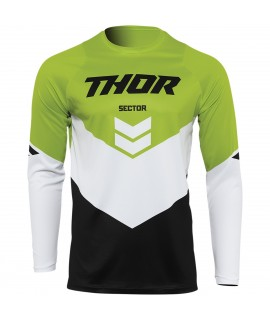 maillot THOR SECTOR chev black green