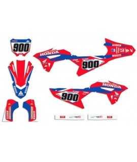 kit deco 450 CRF 2021-2022, 250 CRF 22 MORELLO replica