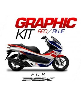 kit deco bleu / rouge