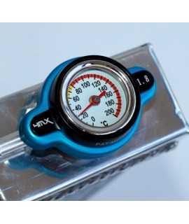 bouchon radiateur 4MX 1.8 thermomêtre HVA, HUSABERG, KTM bleu
