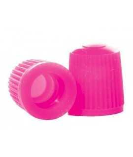 bouchon de valve rose